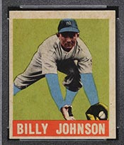 1948-1949 Leaf #14 Billy Johnson New York Yankees - Front