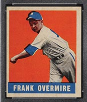 1948-1949 Leaf #17 Frank Overmire Detroit Tigers - Front