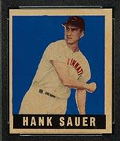 1948-1949 Leaf #20 Hank Sauer Cincinnati Reds - Front