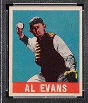 1948-1949 Leaf #22 Al Evans Washington Senators - Front