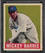 1948-1949 Leaf #27 Mickey Harris Boston Red Sox - Front