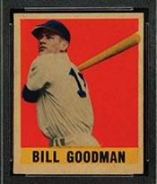 1948-1949 Leaf #30 Bill Goodman Boston Red Sox - Front