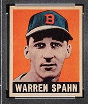1948-1949 Leaf #32 Warren Spahn Boston Braves - Front