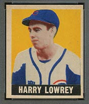 1948-1949 Leaf #33 Harry Lowrey Chicago Cubs - Front