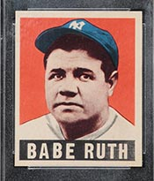 1948-1949 Leaf #3 Babe Ruth New York Yankees - Front