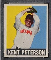 1948-1949 Leaf #42 Kent Peterson (Black Cap) Cincinnati Reds - Front
