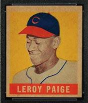 1948-1949 Leaf #8 Satchel Paige Cleveland Indians - Front