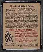 1948 Bowman #18 Ephraim Rocha St. Louis Bombers - Back