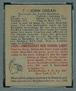 1948 Bowman #7 John Logan St. Louis Bombers - Back