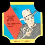"1950-1951 D290-12 Bread for Energy Johnny ""Mack"" Brown Actor, Lone Star Lawman"