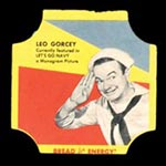 1950-1951 D290-12 Bread for Energy Leo Gorcey Actor, Let's Go Navy!