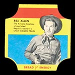 1950-1951 D290-12 Bread for Energy Rex Allen Actor, Utah Wagon Train