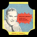 1950-1951 D290-12 Bread for Energy William Bendix Actor, Detective Story