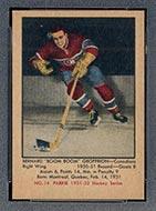 """1951-1952 Parkhurst #14 Bernie """"Boom Boom"""" Geoffrion Montreal Canadiens"""