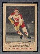 1951-1952 Parkhurst #16 Dick Gamble Montreal Canadiens