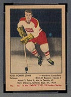 1951-1952 Parkhurst #18 Ross Robert Lowe Montreal Canadiens