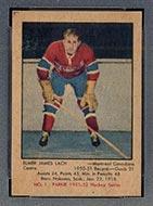 1951-1952 Parkhurst #1 Elmer Lach Montreal Canadiens