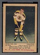 1951-1952 Parkhurst #20 Victor Ivan Lynn Boston Bruins