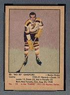 1951-1952 Parkhurst #22 Ed Sandford Boston Bruins
