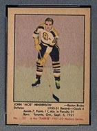 1951-1952 Parkhurst #23 John Henderson Boston Bruins