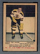 1951-1952 Parkhurst #25 Hal Laycoe Boston Bruins