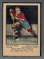 1951-1952 Parkhurst #2 Paul Meger Montreal Canadiens