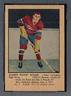 1951-1952 Parkhurst #4 Maurice Richard Montreal Canadiens