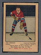 1951-1952 Parkhurst #7 Tom Johnson Montreal Canadiens