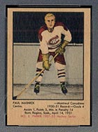 1951-1952 Parkhurst #8 Paul Masnick Montreal Canadiens