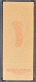 1951 Topps Connie Mack All-Stars Babe Ruth New York Yankees - Tan Back