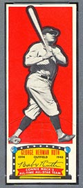 1951 Topps Connie Mack All-Stars Babe Ruth New York Yankees - Front