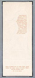 1951 Topps Connie Mack All-Stars Christy Mathewson New York Giants - White Back