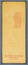 1951 Topps Connie Mack All-Stars Christy Mathewson New York Giants - Tan Back