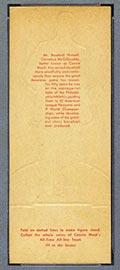 1951 Topps Connie Mack All-Stars Connie Mack Philadelphia Athletics - Tan Back