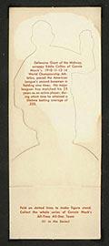 1951 Topps Connie Mack All-Stars Eddie Collins Chicago White Sox - White Back