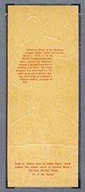 1951 Topps Connie Mack All-Stars Eddie Collins Chicago White Sox - Tan Back