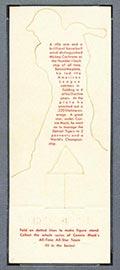 "1951 Topps Connie Mack All-Stars Gordon ""Mickey"" Cochrane Detroit Tigers - White Back"