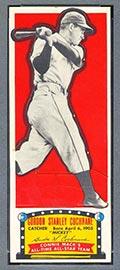 "1951 Topps Connie Mack All-Stars Gordon ""Mickey"" Cochrane Detroit Tigers - Front"