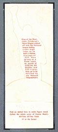 1951 Topps Connie Mack All-Stars Honus Wagner Pittsburgh Pirates - White Back