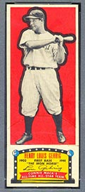 1951 Topps Connie Mack All-Stars Lou Gehrig New York Yankees - Front