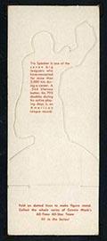 1951 Topps Connie Mack All-Stars Tris Speaker Cleveland Indians - White Back