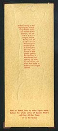 1951 Topps Connie Mack All-Stars Walter Johnson Washington Senators - Tan Back