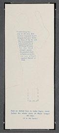 1951 Topps Major League All-Stars Bob Lemon Cleveland Indians - Back