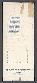 1951 Topps Major League All-Stars Ed Stanky New York Giants - Back