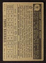 1952 Topps #10 Al Rosen Cleveland Indians - Black Back