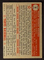 1952 Topps #11 Phil Rizzuto New York Yankees - Red Back
