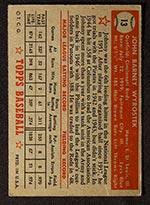 1952 Topps #13 Johnny Wyrostek Cincinnati Reds - Red Back