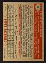 1952 Topps #14 Bob Elliott Boston Braves - Red Back