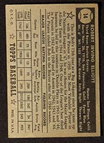 1952 Topps #14 Bob Elliott Boston Braves - Black Back