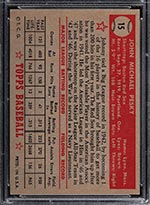 1952 Topps #15 Johnny Pesky Boston Red Sox - Red Back